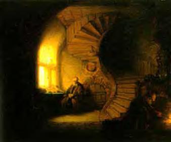 Rembrandt van Rijn, Filozof meditând