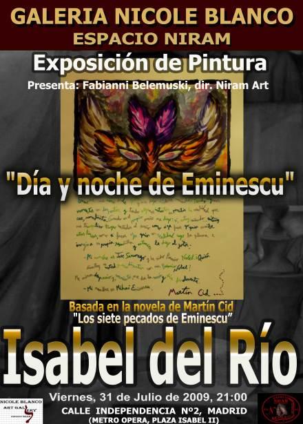 Expozitie de pictura dedicata lui Mihai Eminescu de Isabel del Rio / Espacio Niram, Madrid