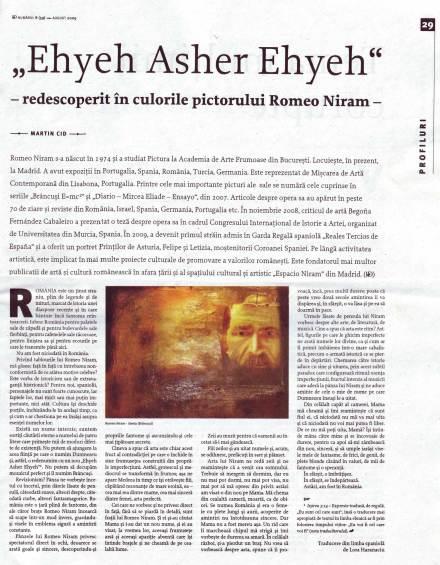 hyeh asher Ehyeh redescoperit in culorile pictorului Romeo Niram, de Martin Cid