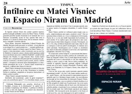 Matei Visniec in Espacio Niram de Fabianni Belemuski