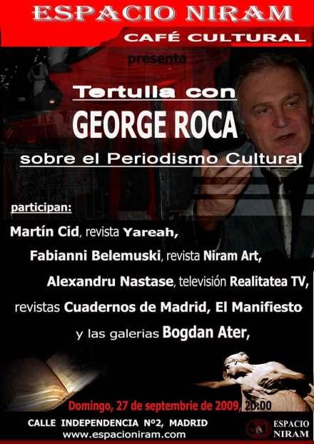 Jurnalistul GEORGE ROCA vorbeste despre Jurnalismul Cultural, la Madrid