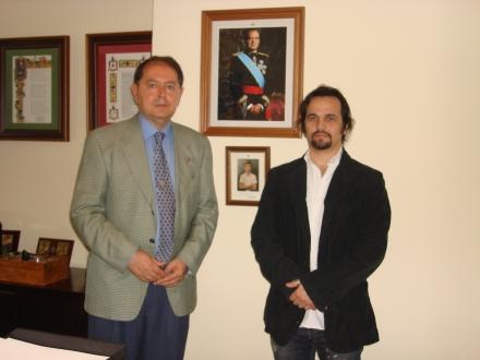 Generalul Manuel Fuentes Cabrera si Romeo Niram