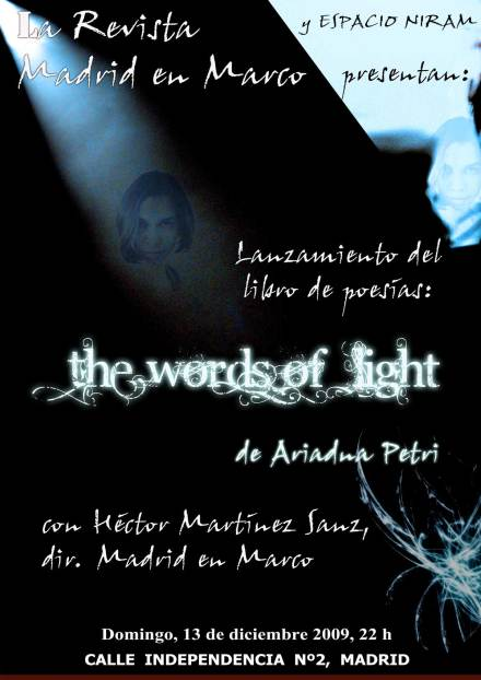 Lansare de carte. The Words of  Light de Ariadna Petri