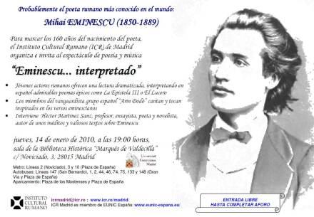 Mihai Eminescu - ICR Madrid