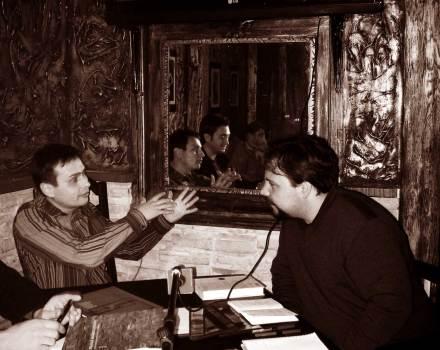 Lucian Muntean si scriitorul Hector Martinez Sanz