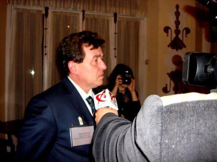 Colonelul Reales Tercios Miguel Angel Segovia, Sef de Protocol