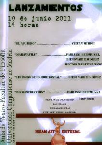 Lansare de carte romaneasca la Editura Niram Art, Madrid