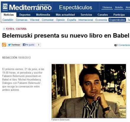 Fabianni Belemuski prezinta noua sa carte in Babel