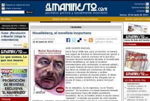 Michel Houellebecq, dialoguri cu Fabianni Belemuski.