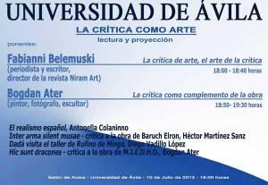 Colocviu Niram Art, Univ. Avila