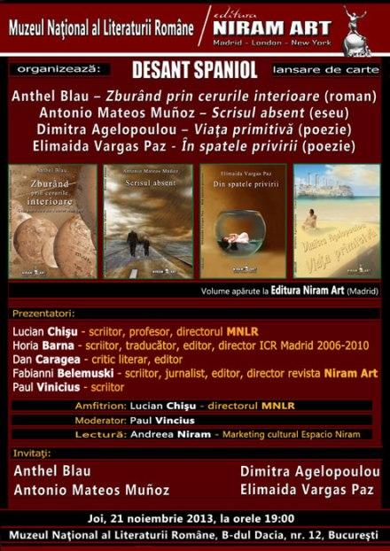 Editura Niram Art la Muzeul Literaturii Romane