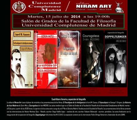 Lansari de carte Niram Art la Madrid