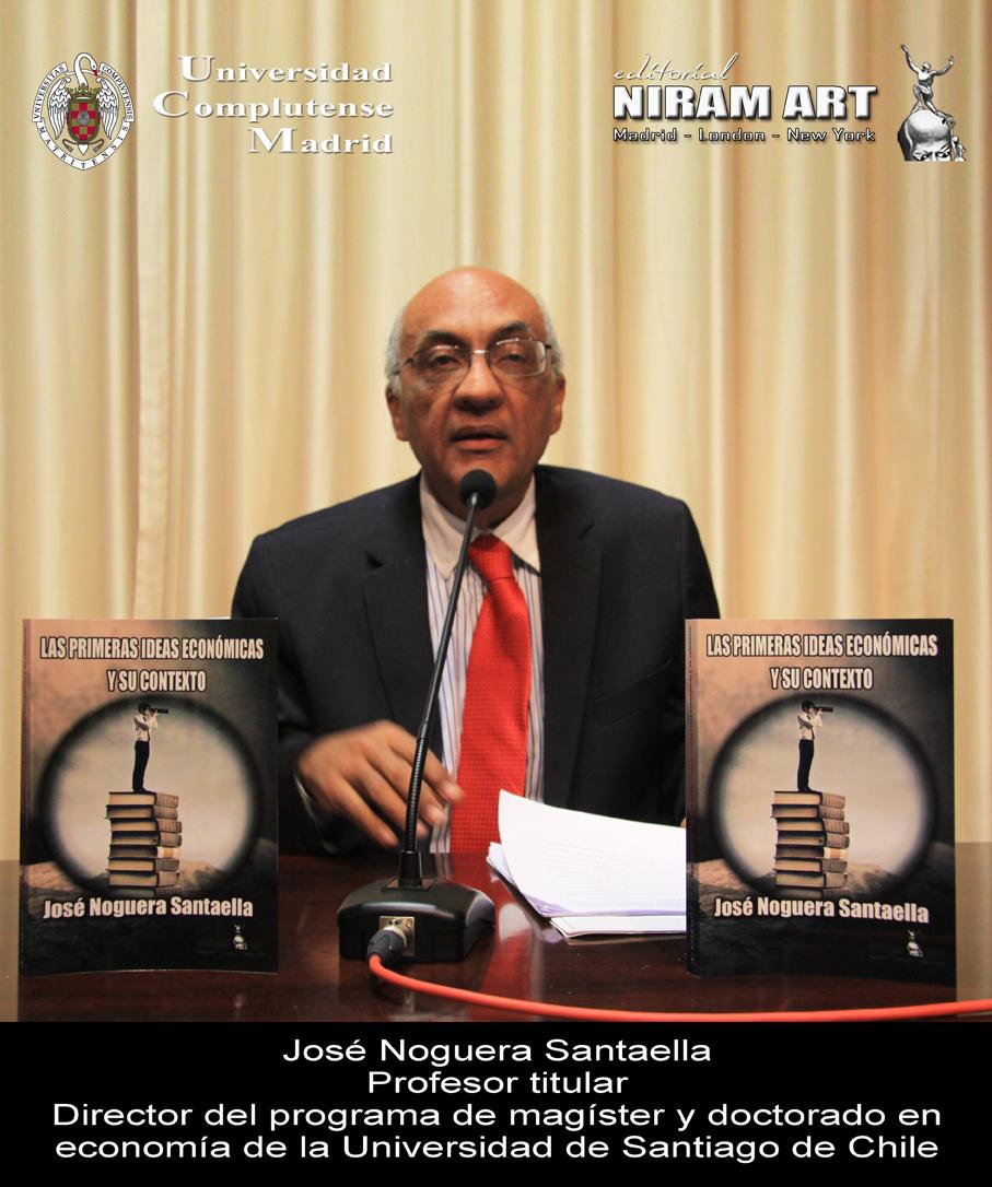 El profesor José Noguera Santaella, de la Univ. Santiago de Chile, presenta su libro en Madrid